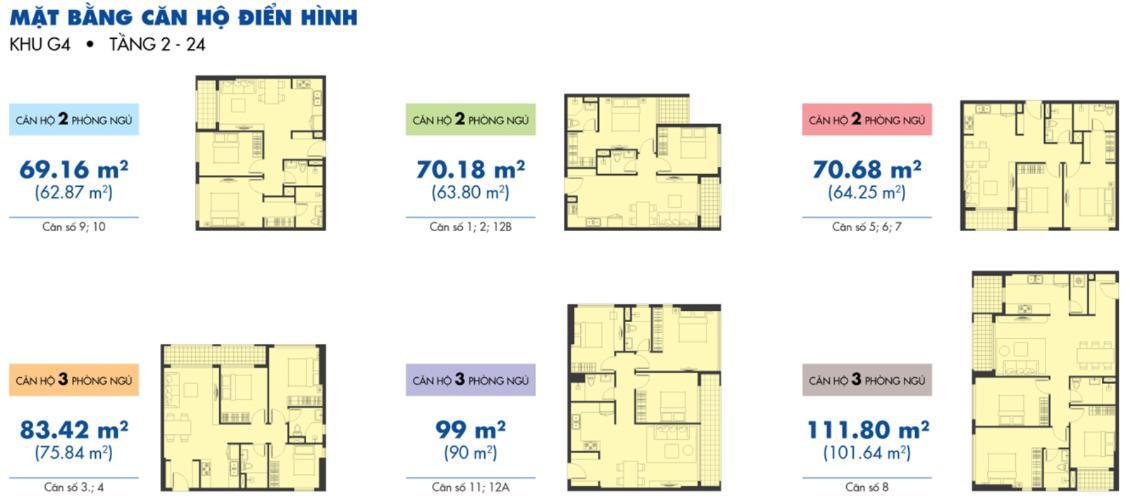 Mặt bằng căn hộ Căn hộ Sunrise Riverside đầy đủ nội thất, view nội khu yên tĩnh.