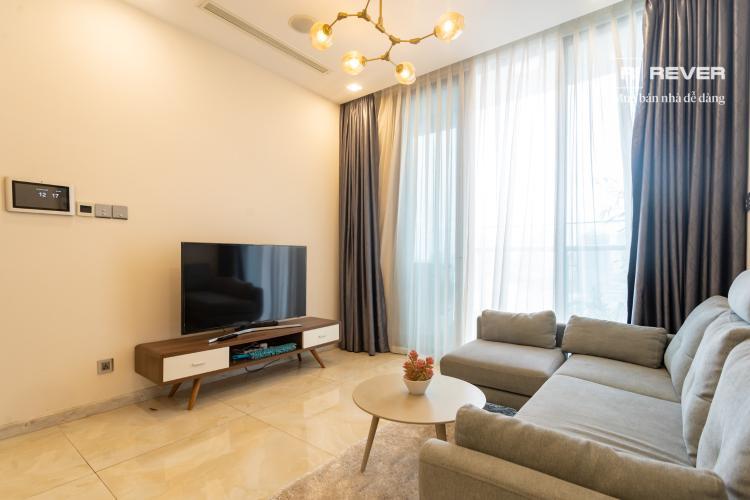 Phòng khách căn hộ VINHOMES GOLDEN RIVER Cho thuê căn hộ Vinhomes Golden River 1PN, tầng 19, đầy đủ nội thất