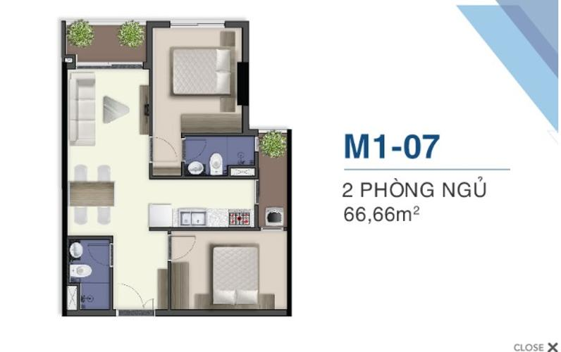 Bán căn hộ tháp Mercury Q7 Saigon Riverside 2 phòng ngủ, view hồ bơi.
