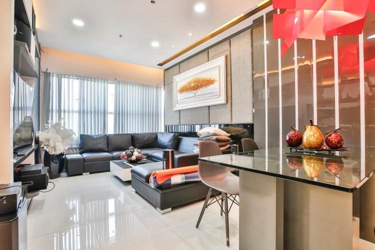 Phòng Khách Căn hộ Sunrise City 3 phòng ngủ tầng cao X2 view đẹp, full nội thất