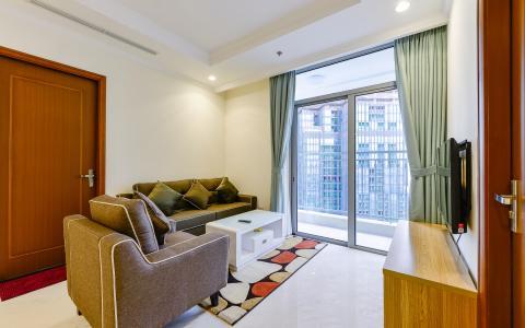 Căn hộ Vinhomes Central Park 3 phòng ngủ tầng cao L1 nội thất đầy đủ