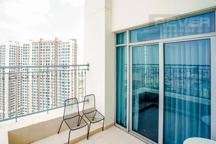 Sân Vườn Bán căn hộ Vinhomes Central Park hướng Tây Bắc, 103m2 2PN 2WC, nội thất cao cấp, view thành phố