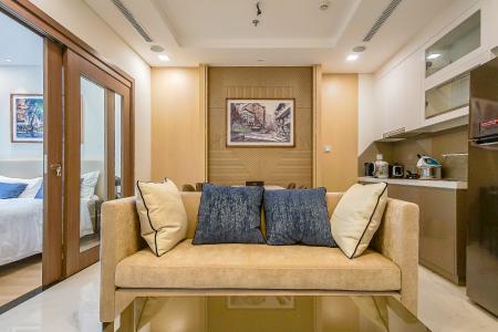 Cho thuê căn hộ Vinhomes Central Park 1PN, diện tích 54m2, đầy đủ nội thất, view thành phố và sông Sài Gòn