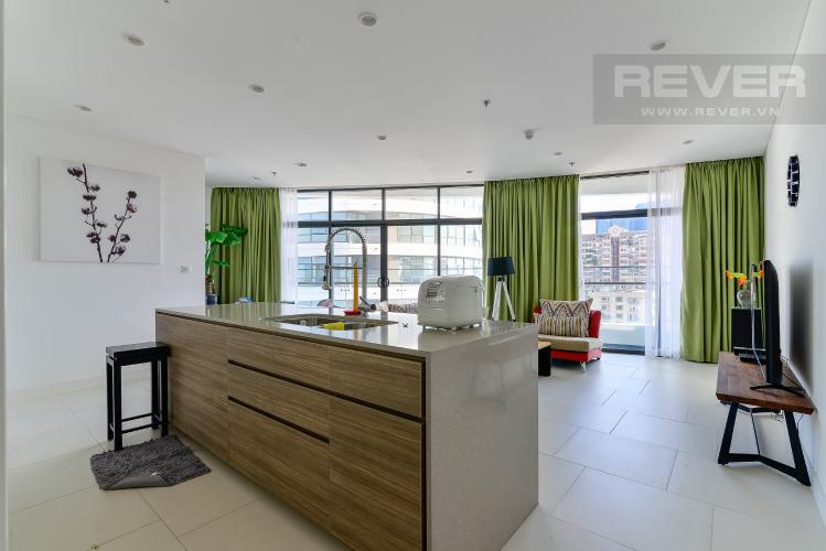 Tổng Quan Cho thuê căn hộ City Garden 2PN 2WC, đầy đủ nội thất, view sông