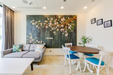 Căn hộ Vinhomes Golden River tầng cao, tháp Aqua 3, 2 phòng ngủ, full nội thất