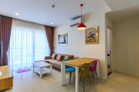 Cho thuê căn hộ Masteri Millennium tầng trung 2PN đầy đủ nội thất view sông