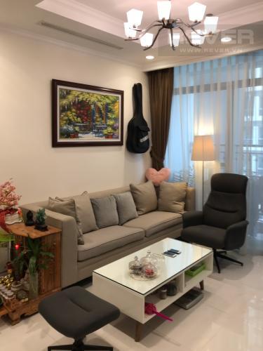 Phòng Khách Bán căn hộ Vinhomes Central Park tầng thấp, tháp Landmark 5, đầy đủ nội thất, view hồ bơi và mé sông