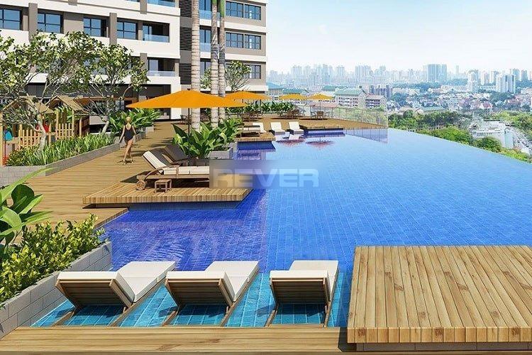 Hồ bơi Sunrise CityView Căn hộ Officetel Sunrise CityView nội thất mới đầy đủ, view thành phố.