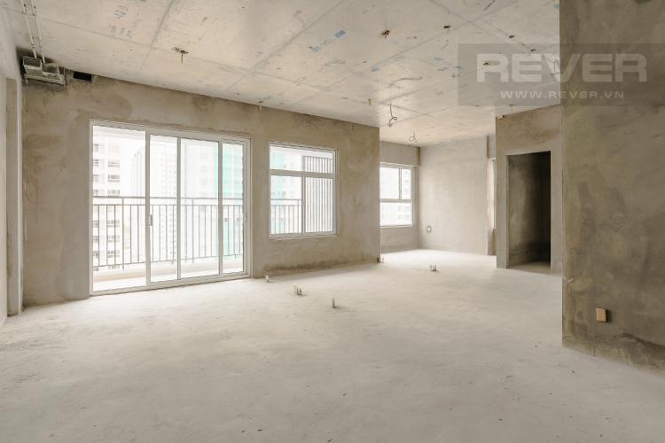 Phòng Khách Căn hộ Sunrise Riverside tầng trung, 3PN, có ban công