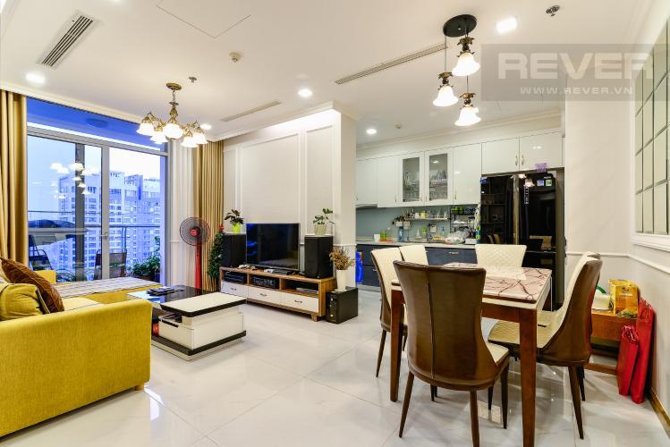 Phòng Khách Căn hộ Vinhomes Central Park tầng cao, tháp Park3, 2PN đầy đủ nội thất