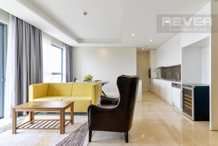 Phòng Khách Cho thuê căn hộ Diamond Island - Đảo Kim Cương 2PN, đầy đủ nội thất, view sông Sài Gòn thoáng mát