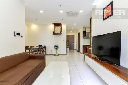Bán căn hộ Vinhomes Central Park 3PN, tháp Park 7, đầy đủ nội thất, view hồ bơi
