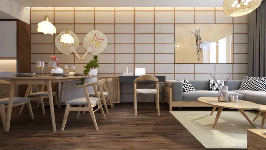 Nhà mẫu Akari City Căn hộ Akari City tầng trung đón gió, bàn giao nội thất cơ bản