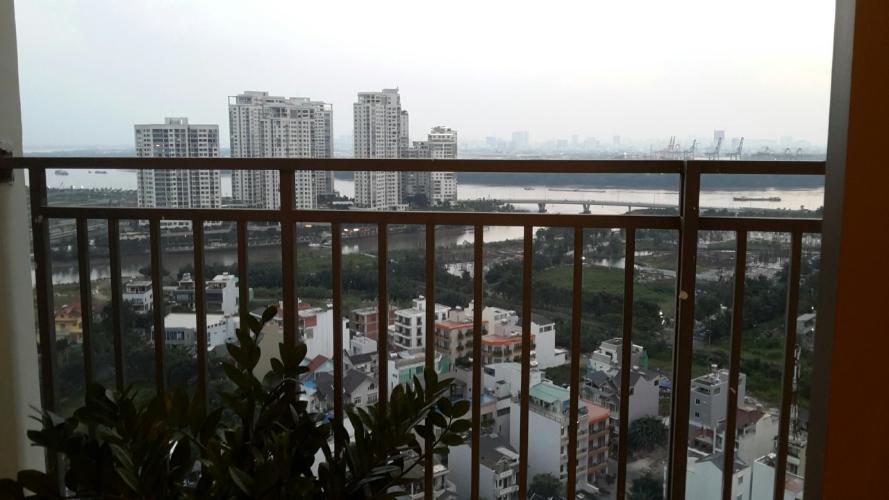 ban công căn hộ The Sun Avenue Cho thuê căn hộ tầng trung view sông, nội thất cơ bản The Sun Avenue