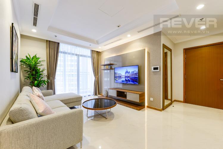 Phòng khách Căn góc Vinhomes Central Park 3 phòng ngủ tầng thấp Landmark 2