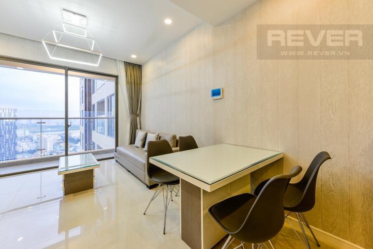 Bàn ăn Cho thuê căn hộ Masteri Millennium tầng cao 2PN view sông