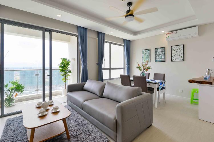 Phòng Khách Bán căn hộ Diamond Island - Đảo Kim Cương 2PN, tháp Bora Bora, đầy đủ nội thất, view sông thoáng mát