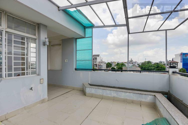 Sân Thượng Sau Cho thuê nhà phố hẻm Nguyễn Duy Trinh, Q2, 3 phòng ngủ, không có nội thất, hướng Đông Nam
