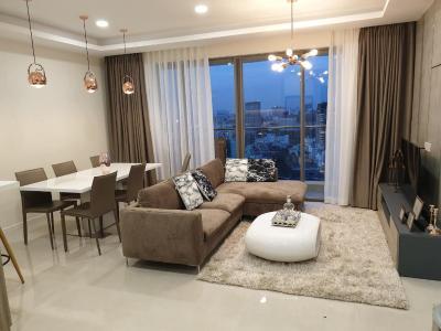 Bán hoặc cho thuê căn hộ Masteri Millennium 3PN, diện tích 107m2, nội thất cao cấp, view Bitexco