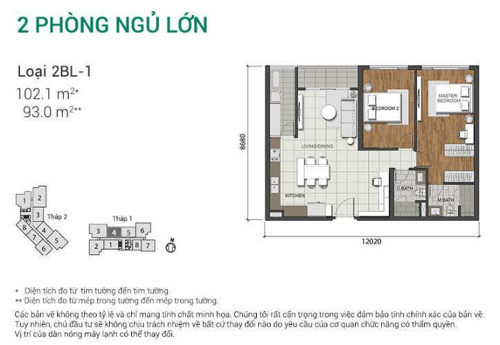 Căn hộ 2 phòng ngủ Căn hộ Estella Heights 2 phòng ngủ tầng trung T1 không có nội thất