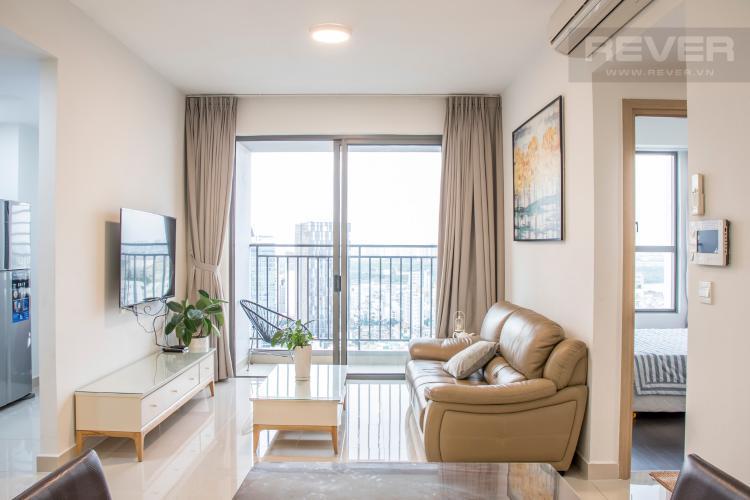 Phòng Khách Bán căn hộ RiverGate Residence, tầng trung, tháp B, đầy đủ nội thất