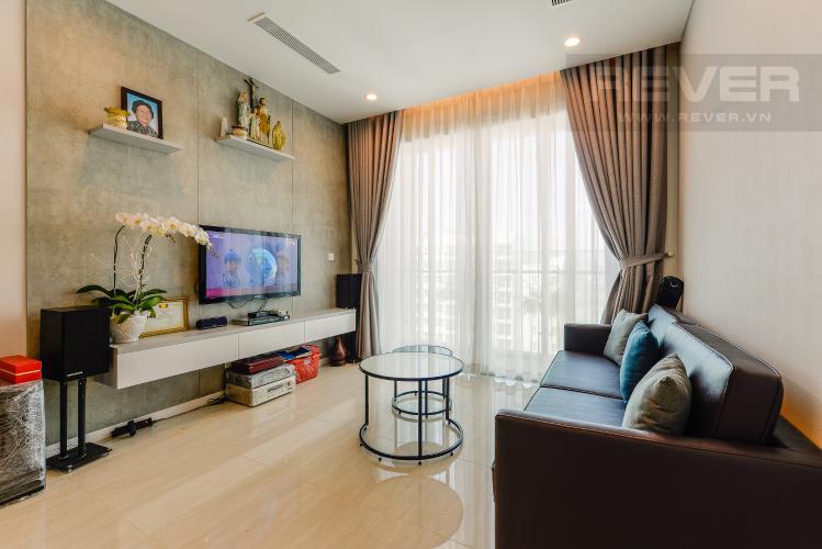 Phòng khách Căn hộ Sadora Sala Đại Quang Minh 2PN đầy đủ nội thất, view hồ bơi và công viên