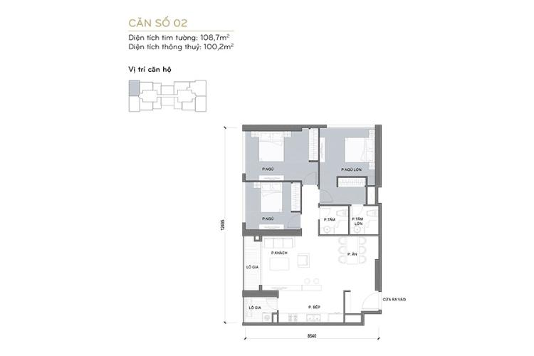 Căn hộ 3 phòng ngủ Căn góc Vinhomes Central Park 3 phòng ngủ tầng cao L6 view sông