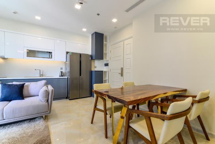 Phòng Ăn & Bếp Căn hộ Vinhomes Golden River tầng cao, 2PN 1WC, nội thất đầy đủ, view sông