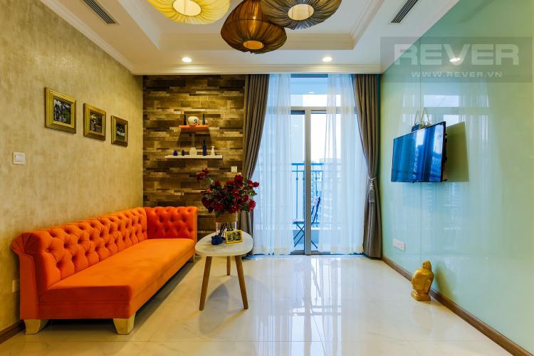 Phòng Khách Căn hộ Vinhomes Central Park tầng cao Central 2 thiết kế hiện đại, trẻ trung