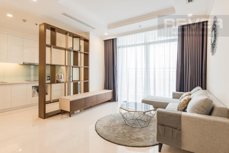Phòng khách Cho thuê căn hộ Vinhomes Central Park 3PN, tầng 37 tháp Landmark 5