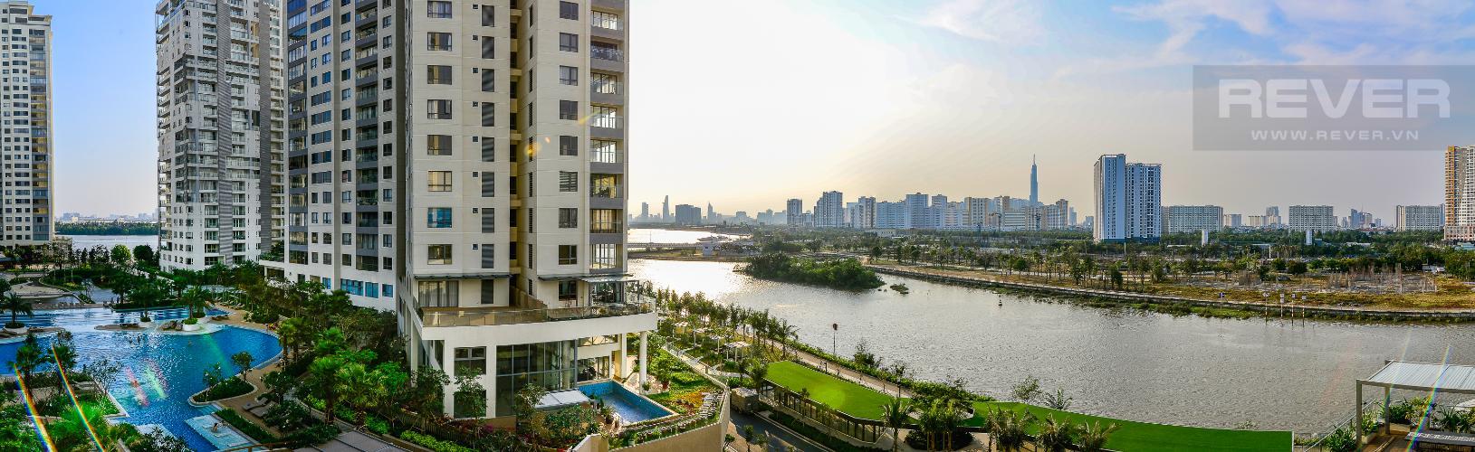 View Cho thuê căn hộ Diamond Island 94,2m2 2PN 2WC, đầy đủ nội thất, view sông