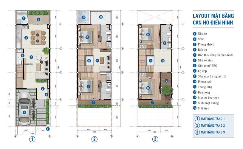 mặt bằng tầng Nhà phố Citi Bella quận 2 Bán nhà phố Citi Bella Q2, nhà bàn giao thô nên dễ dàng thiết kế.