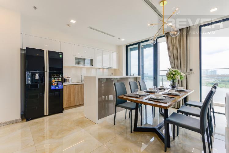 Bếp Căn hộ Vinhomes Golden River 3 phòng ngủ tầng trung A4 view sông