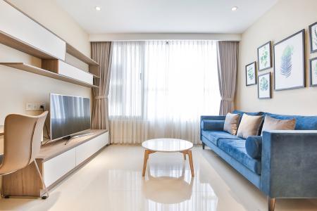 Căn hộ The Tresor 2 phòng ngủ tầng trung TS1 view sông