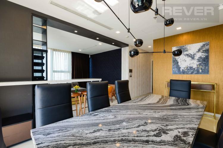 Bàn ăn Bán căn hộ Vinhomes Golden River tầng cao, diện tích 150m2, 3PN 3WC, nội thất cao cấp