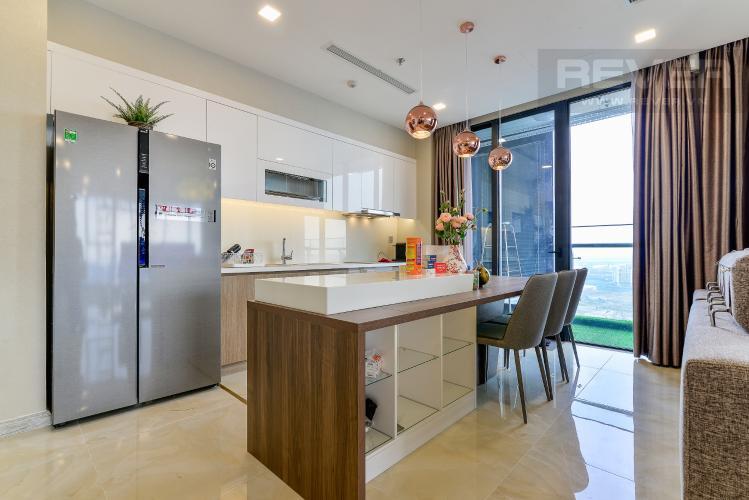 Nhà Bếp Căn hộ Vinhomes Golden River tầng cao, 3 phòng ngủ, nội thất đầy đủ