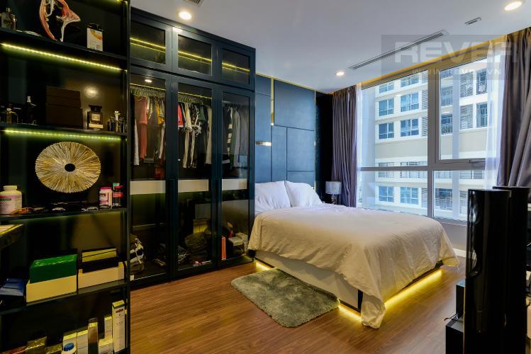 Phòng Ngủ 1 Căn hộ Vinhomes Central Park tầng cao, 2PN đầy đủ nội thất