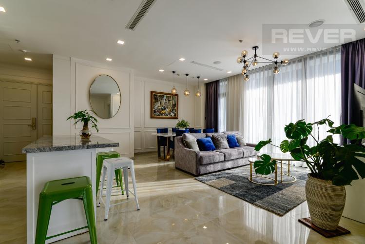 Phòng Khách Căn hộ Vinhomes Golden River tầng cao, 3PN đầy đủ nội thất