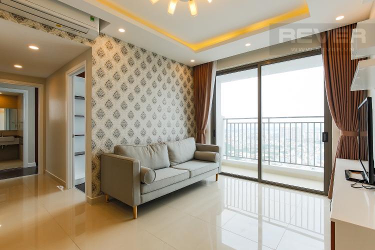 Phòng Khách Căn hộ RiverGate Residence 3 phòng ngủ tầng cao tháp A hướng Tây Bắc