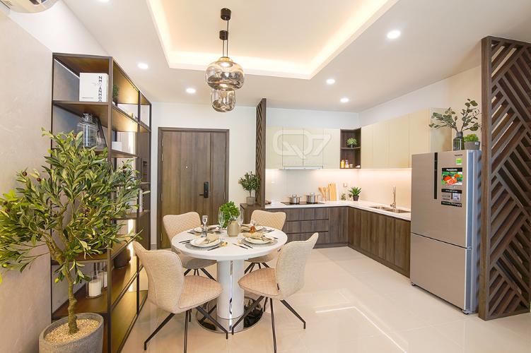 Nhà mẫu căn hộ Q7 Boulevard Bán căn hộ Q7 Boulevard diện tích 63.57m2, kết cấu gồm 2 phòng ngủ và 2 toilet. Ban công hướng Bắc