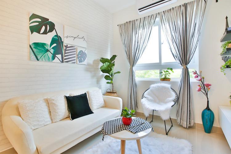 Căn hộ Topaz Home 2 tầng thấp, nội thất cơ bản tiện nghi.
