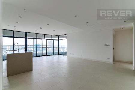 Cho thuê căn hộ City Garden 3PN, tháp Promennade 1, diện tích 145m2, không nội thất, view thành phố