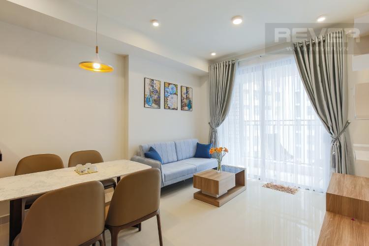 Phòng Khách Căn hộ Masteri Millennium tầng trung, 2PN đầy đủ nội thất
