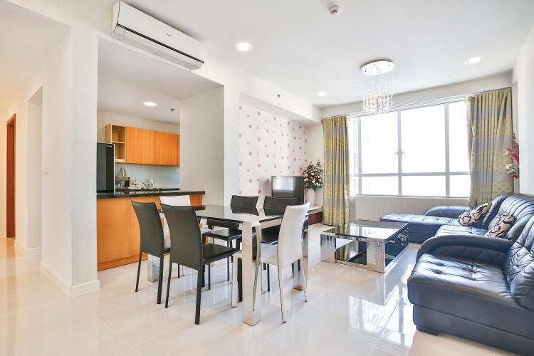 Phòng Khách Căn hộ Sunrise City 2 phòng ngủ tầng cao V3 đầy đủ tiện nghi