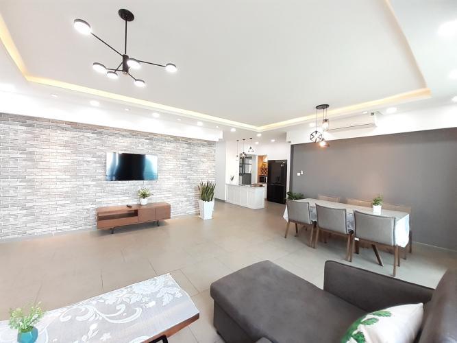 Phòng khách căn hộ Riviera Point Căn hộ tầng cao Riviera Point đầy đủ nội thất hiện đại sang trọng.