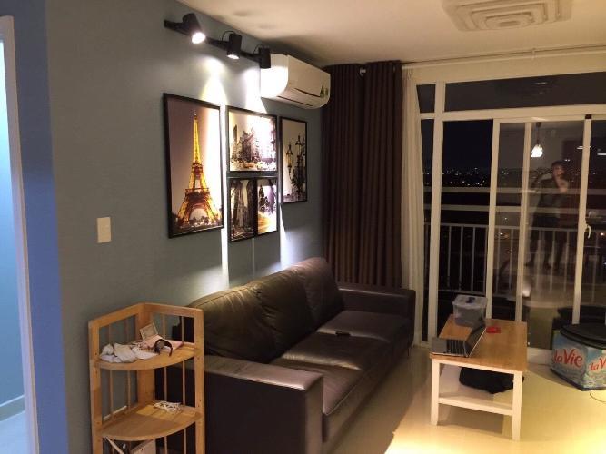 Phòng khách căn hộ Happy City Căn hộ Happy City đầy đủ nội thất view thành phố thoáng mát.