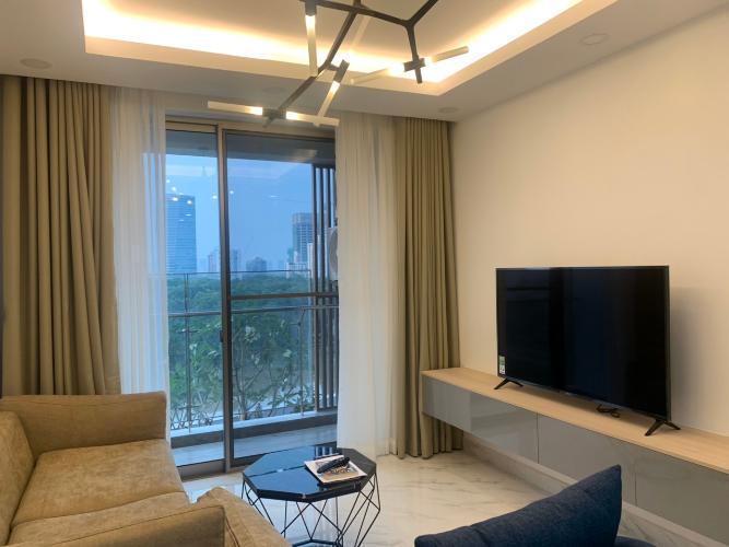 Phòng khách căn hộ PHÚ MỸ HƯNG MIDTOWN Cho thuê căn hộ Phú Mỹ Hưng Midtown 3PN, tầng thấp, diện tích 135m2, view công viên Hoa Anh Đào