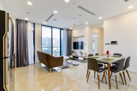 Officetel Vinhomes Golden River tầng thấp, 2 phòng ngủ, full nội thất