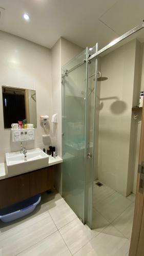 Toilet Jamila Khang Điền, Quận 9 Căn hộ Jamila Khang Điền tầng thấp, ban công hướng Bắc view thành phố.