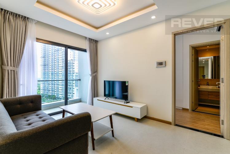 Phòng Khách Cho thuê căn hộ New City Thủ Thiêm tầng trung, 3PN đầy đủ nội thất, view hồ bơi
